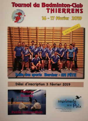 Tournoi du Badminton Club Thierrens